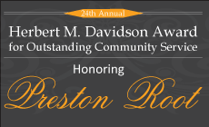 Herbert M. Davidson Award Honoring Preston Root