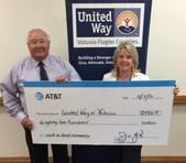 AT&T donates $8,500 to United Way VFC